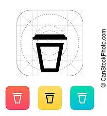 icon., műanyag, üres, csésze