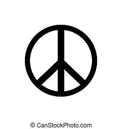 icon., vektor, béke cégtábla