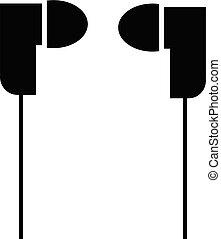 icon., vektor, fülhallgató