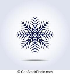 icon., vektor, hópehely, ábra