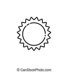 icon., vektor, időjárás, ábra, áttekintés, sun.