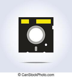 icon., vektor, lemez, ábra