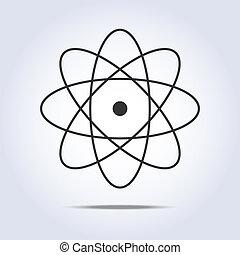 icon., vektor, molekula, ábra