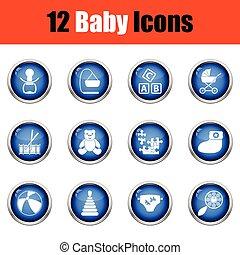 icons., csecsemő, állhatatos