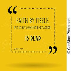 idézőjelek, körülbelül, biblia, christial, bizalom