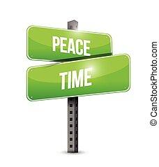 idő, aláír, utca, ábra, béke