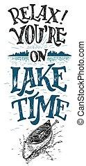 idő, tó, belétek are, relax.