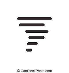időjárás, ábra, icon., glyph, vektor, megbízhatatlan ember