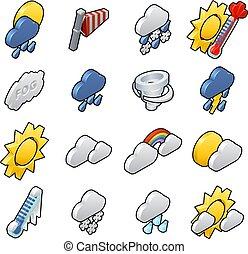 időjárás, állhatatos, ikon