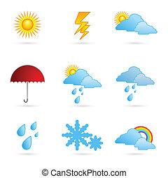 időjárás, írógépen ír