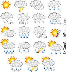 időjárás becsül, ügy, ikon