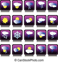 időjárás becsül, gyűjtés, ikon