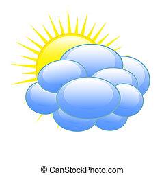 időjárás becsül, ikon