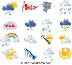 időjárás becsül, ikonok