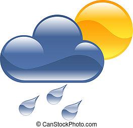 időjárás, clipart, ábra, ikon