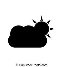 időjárás, ikon, háttér, elszigetelt, fehér
