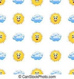 időjárás, karikatúra, icons.