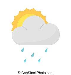 időjárás, karikatúra, ikon