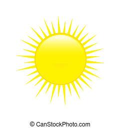 időjárás, sun., sima, előre lát, ikon