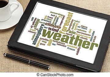 időjárás, szó, felhő