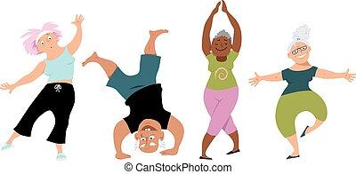 idősebb ember, jóga