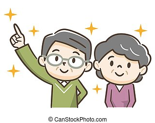 idősebb ember, jövő, életkor, couple:, öreg