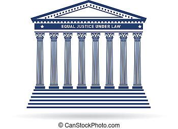 igazságosság, épület, kép, bíróság, jel