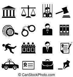 igazságosság, jogi, törvény, ikonok
