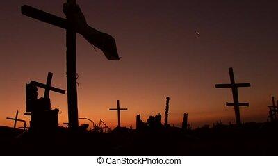 ijedős, napnyugta, cementery