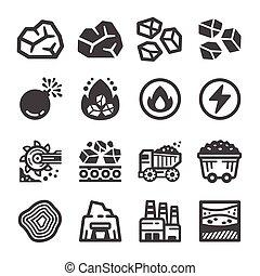 ikon, állhatatos, szén