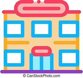 ikon, áttekintés, élelmiszer áruház, ábra, vektor