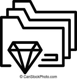 ikon, áttekintés, mód, becsületesség, szakvélemény