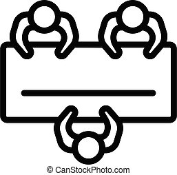 ikon, áttekintés, mód, tanácskozás, desktop, szoba
