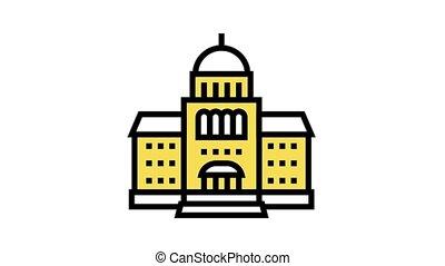 ikon, élénkség, szín, törvényszéki épület, épület