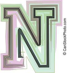 ikon, észak, tervezés, jel, levél