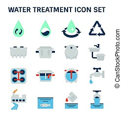 ikon, bánásmód, víz