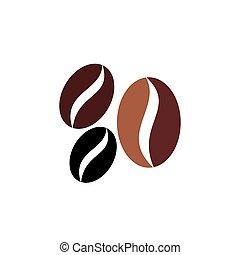 ikon, bab, vektor, kávécserje, jelkép