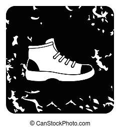 ikon, csizma, mód, grunge, természetjárás