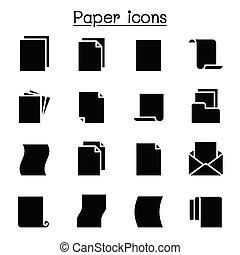 ikon, dolgozat, ábra, vektor, graphic tervezés, állhatatos