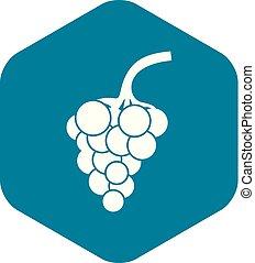 ikon, egyszerű, mód, szőlő, elágazik