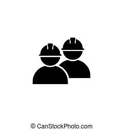 ikon, egyszerű, tervezés, munkás, jelkép