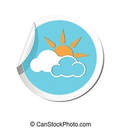 ikon, előre lát, elhomályosul, nap