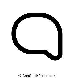 ikon, elszigetelt, fehér, áttekintés, üzenet, háttér