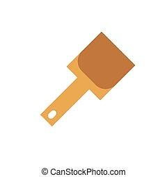 ikon, elszigetelt, háttér, shovel.