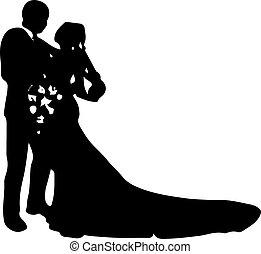 ikon, elszigetelt, white esküvő, háttér