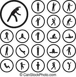 ikon, gyakorlás, test