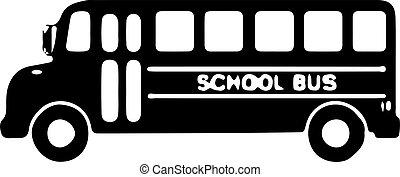 ikon, háttér, elszigetelt, izbogis, fehér, autóbusz