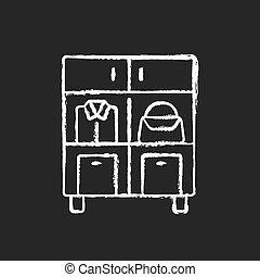ikon, háttér, fehér, sötét, otthon, szervezet, kréta