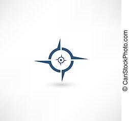 ikon, iránytű