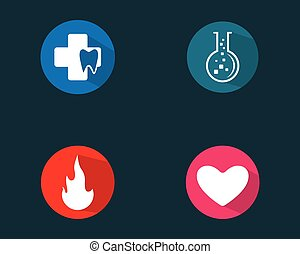ikon, jel, állhatatos, ábra, vektor